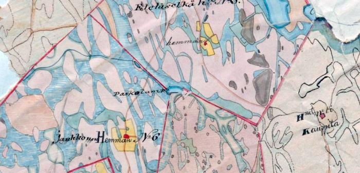 Kauppilan Paskolammin nimi on ollut käytössä jo ainakin 1800-luvun puolivälissä, sillä se on merkitty Kangasniemen pitäjänkarttaan vuonna 1848. Kyseinen lampi ei ole ollut aivan merkityksetön, sillä se on toiminut tuolloisten tilusten rajana.